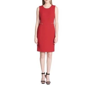 NWT Calvin Klein red sheath dress size 6